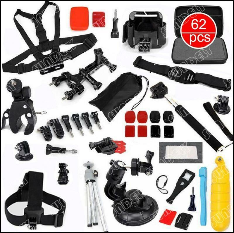 1 Pole Head Chest Mount Strap GoPro Hero 2 3 3+ 4 Camera Accessories Kit 62 in