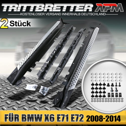 Trittbretter Einstiegsleiste Set Aluminium Schweller für BMW X6 E71 E72 ab 2008