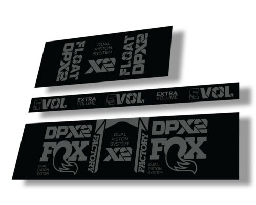 FOX Float DPX2 2021 Rear Shock Suspension Sticker Factory Decal Adhesive Gray