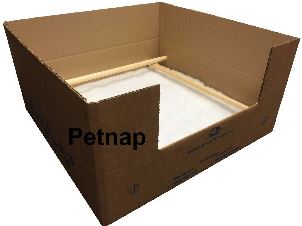 DOG whelping BOX BOX BOX welping Scatole 24 inch x 24 pollici NUOVO 610mm x 610mm 60285b