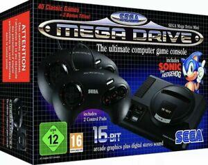 SEGA Mega Drive Mini KONSOLE HD SEGA MINI + 2 Controller +42 Games+ KOMPLETT NEU
