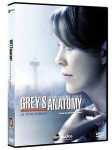 Grey-039-s-Anatomy-Serie-TV-11-Stagione-Cofanetto-Con-6-Dvd-Nuovo-Sigillato