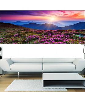 Deco Paysage stickers panoramique déco paysage fleuri réf 3678 ( 13 dimensions