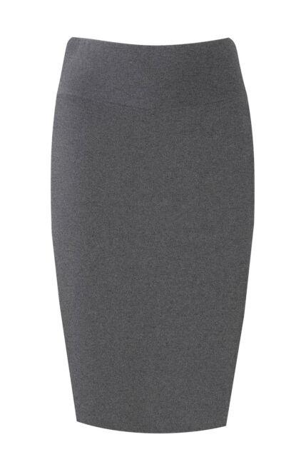 New Womens Midi Pencil Skirt Bodycon Stretch Jersey Tube Skirt Sizes 8-26 Plus