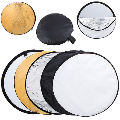 """24"""" 60cm 5in1 Light Photography Studio Multi Photo Disc Collapsible Reflector HG"""