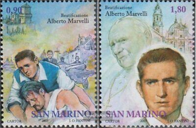 Postfrisch 2005 Seligsprechung SchüTtelfrost Und Schmerzen kompl.ausg. San Marino 2190-2191