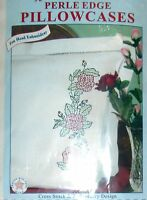1 Pretty roses Pillowcases Stamped Cross Stitch Kit