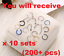 200-pcs-Nose-Rings-Hoop-Stainless-Steel-Bone-L-Shaped-Screw-Nose-Studs thumbnail 1