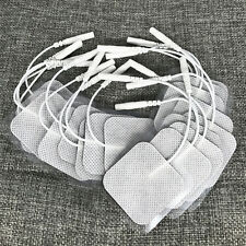 20 Replacement Pads for Massagers/Tens Units Electrode Pads 4x4 cm White Cloth