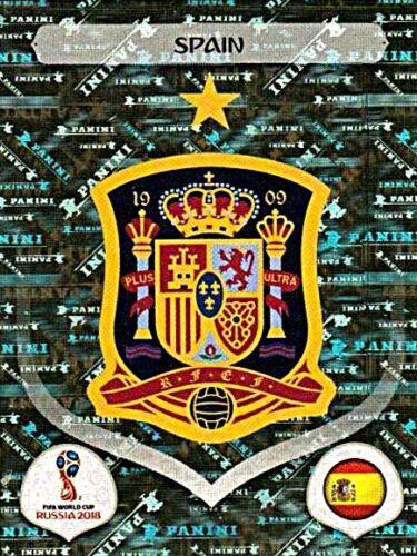 PANINI FIFA WORLD CUP 2018 Russia Glitter Sticker 132 STEMMA SPAGNA