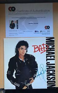 Michael-Jackson-BAD-VINYL-SLEEVE-ALBUM-Autographed-SIGNED-with-COA