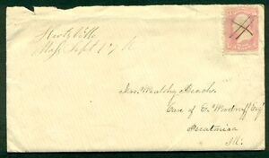 1860-s-3-Pink-64-on-cover-w-manuscript-cancel-and-matching-Hartville-Mass