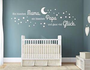 Das Bild Wird Geladen Wandtattoo Kinderzimmer Wandtato Maedchen Junge  Babyzimmer Mama Papa