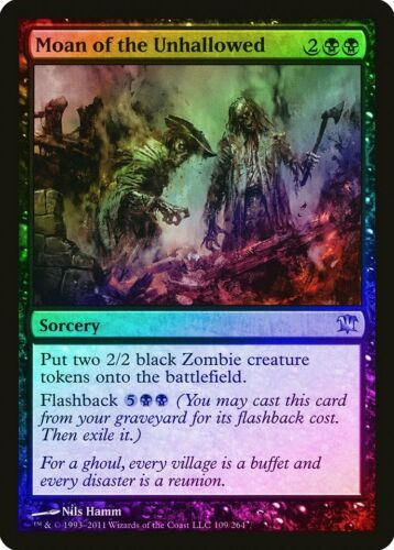 Moan of the Unhallowed FOIL Innistrad NM-M Black Uncommon MAGIC CARD ABUGames