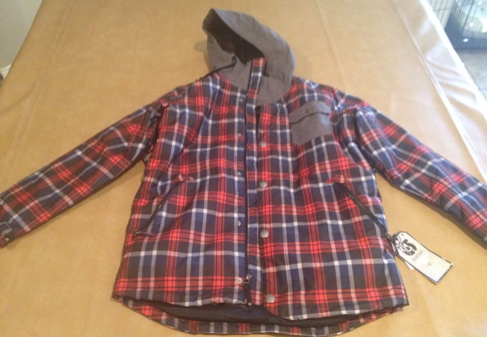 NWT Burton Men Snowbird Parka Shell Medium TWC Primtime JK True BLK Saddle Pld