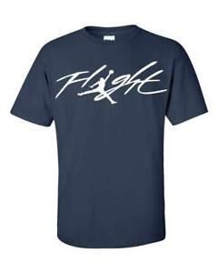 Michael-Jordan-Flight-T-Shirt-Many-Options-of-Colors-on-a-Navy-Shirt-S-5XL