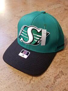 NWT-Saskatchewan-Roughriders-CFL-Adidas-Flex-Fit-Hat-Cap-Sz-L-XL