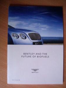 """BENTLEY brochure document """"BENTLEY motors and future biofuels"""" ed 2009 - English - France - État : Neuf: Objet neuf et intact, n'ayant jamais servi, non ouvert. Consulter l'annonce du vendeur pour avoir plus de détails. ... Marque: BENTLEY - France"""