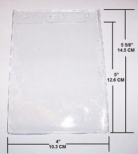 Clear Vinyl Credential Badge Id Holder Vertical Oversize 5