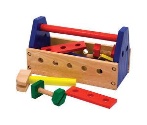 e5f3b389a Image is loading Melissa-Doug-Wood-Tool-Box-Kit-Building-Construction-
