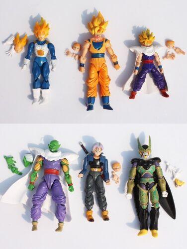 Vegeta Gohan Set de 6 Figuras de acción Goku Cell Dragon Ball Z Piccolo