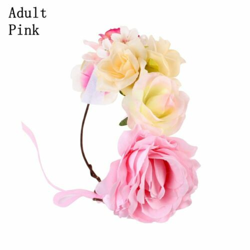 Floral Garland Rose Flower Hairband Parenting Crown Headband Photography Props