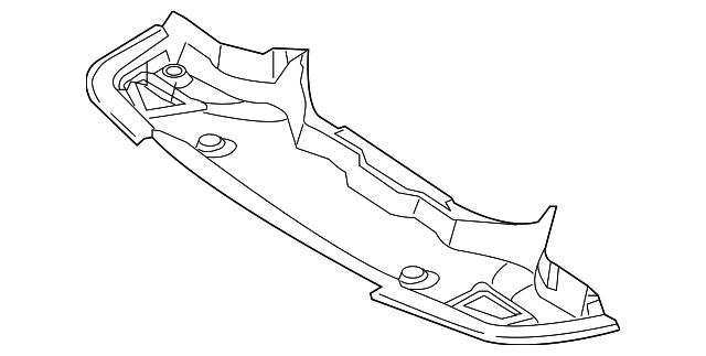 Mercedes MERCEDES-BENZ OEM 07-09 SL550 Splash Shield-Rear Deflector 2305241230