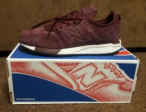 utterly stylish speical offer wholesale sales Details about MRL247LR NEW BALANCE 247 BURGUNDY WHITE MEN SNEAKER SIZE 9  NEW WITH BOX NB NIB