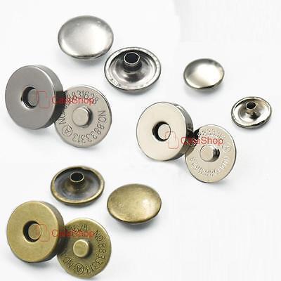 Double Rivet Round Magnetic snaps Button Fastener purse closures Clasp Stud