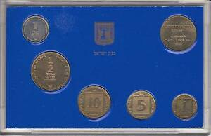 1988-COINS-of-ISRAEL-OFFICIAL-UNCIRCULATED-HANUKKA-MINT-SET-w-SPECIAL-MEDAL