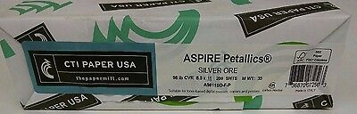 Aspire Petallics Beargrass 98# cover  8 1//2 x11 shimmery pearlescent 100 sheets