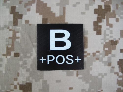 B POS Blood Type Patch IR Reflective FL-BPOS-IR