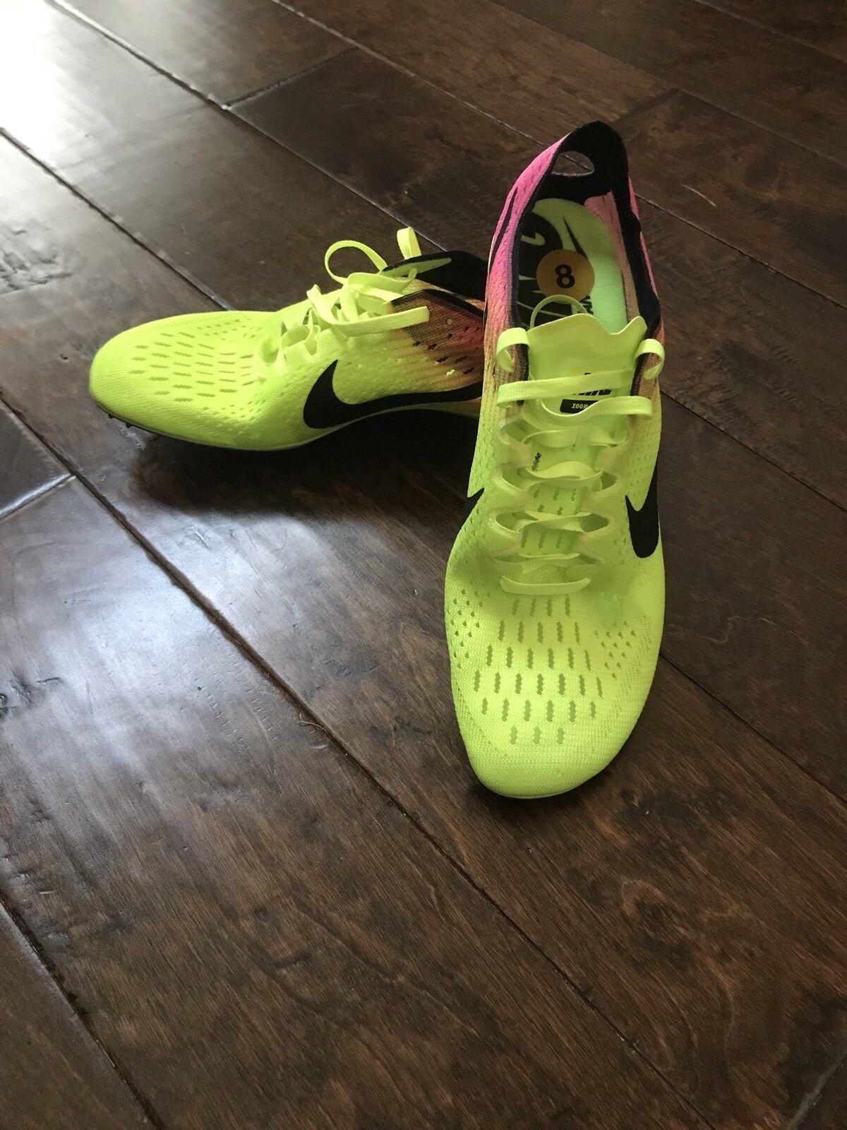 Nike zoom vittoria 3 oc track & field punte 12 rosa scarpe nere 882006-999 12 punte volt. 54df9a
