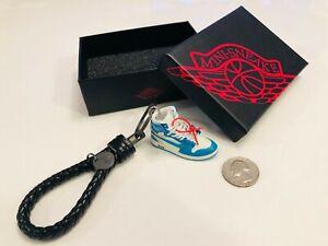7e7041bad18d08 Nike Air Jordan 1 (UNC Off White) 3D Mini Sneaker Keychain Box and ...