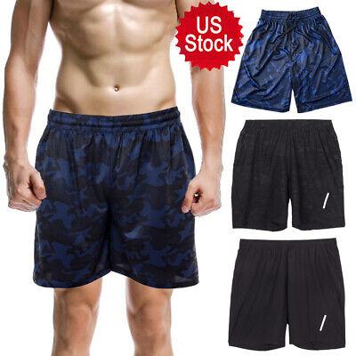 US Men Beach Casual Shorts Gym Sports Running Swimwear Beachwear Shorts Pants DS