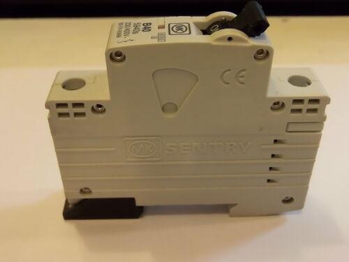 Mk sentry B40 simple pôle disjoncteur 240V 5940s bs en 60898