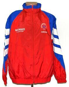 RANGERS SCOTLAND 1992/1993/1994 TRAINING FOOTBALL JACKET JERSEY ADIDAS SIZE L