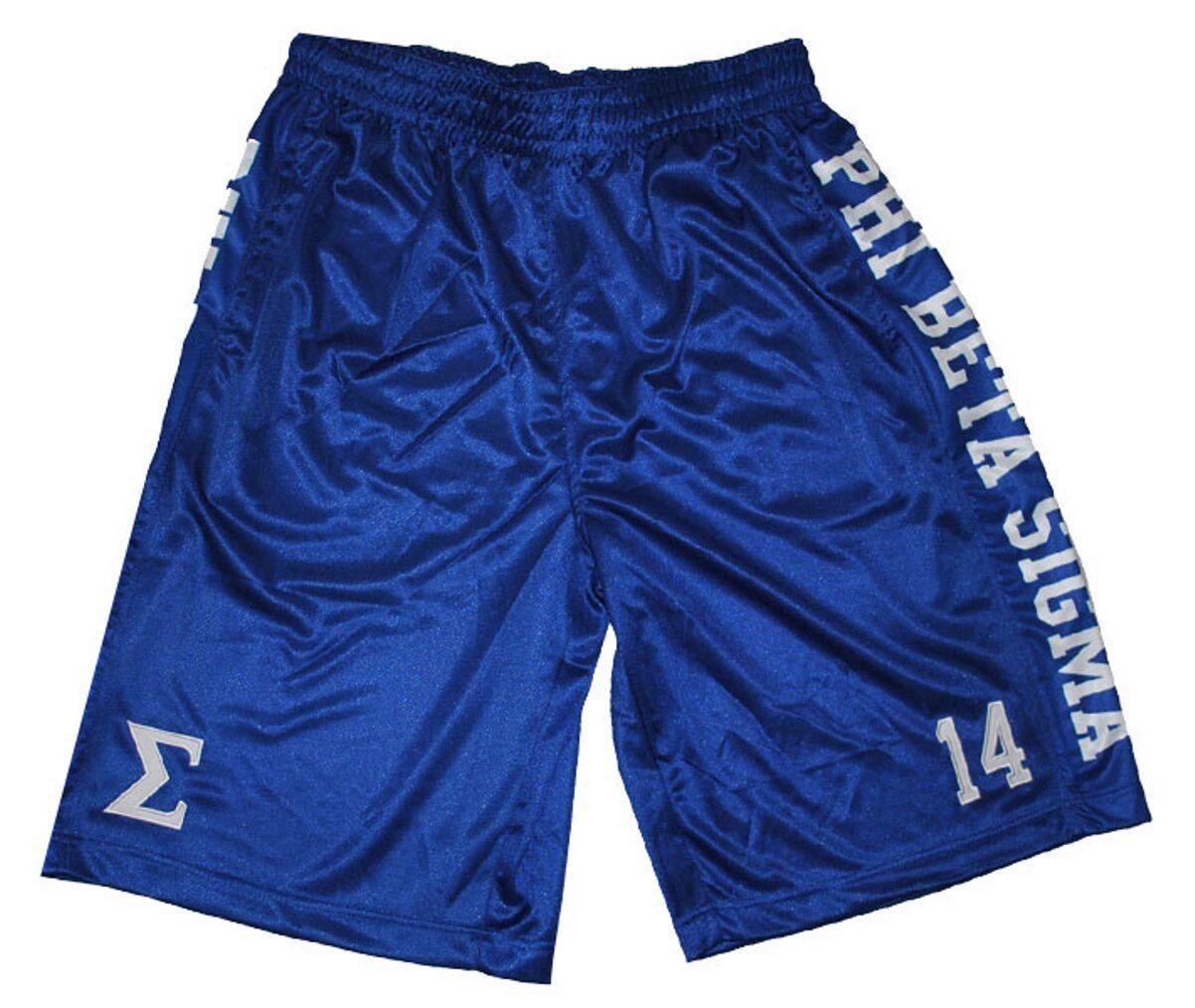 Phi Beta Sigma Fraternity Mens Basketball Shorts bluee
