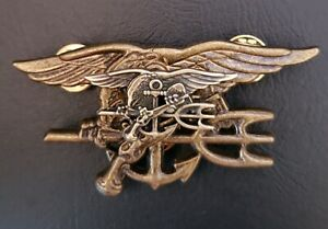 US-Navy-MINI-SEALS-Special-Warfare-SEAL-Team-Trident-Insignia-Antique-Pin-Stack