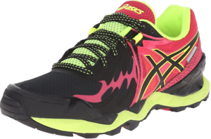 ASICS-Women-039-s-Gel-Fuji-Endurance-Running-Shoes-Black-Onyx-Azalea-You-Choose-Size