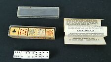 Vintage Dice Poker Game with original box -CRISLOID, and 5 Vintage 6 sided dice.