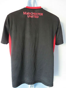 MANCHESTER-UNITED-T-SHIRT-red-black-MUFC-Football-soccer-tee-team-fan-stretch