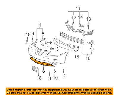 GM1000699 Front,Lower BUMPER for Pontiac Grand Prix 10324182