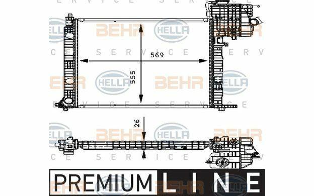 HELLA Radiateur moteur pour MERCEDES-BENZ VITO 8MK 376 714-321 - Mister Auto