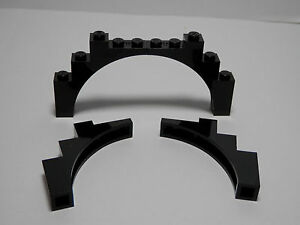 LEGO LEGOS   Set of 4 NEW Brick Arch 1 x 5 x 4 Top  BLACK