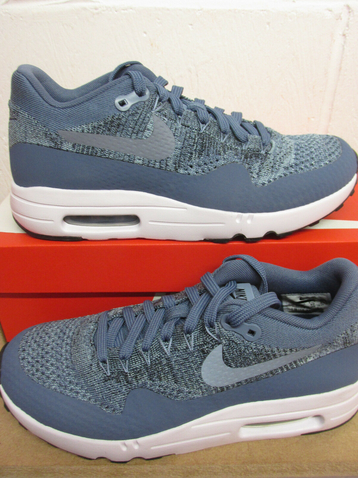 Nike Air Max 1 Ultra 2.0 Flyknit Mens Running Trainers 875942 400 Sneakers Shoes