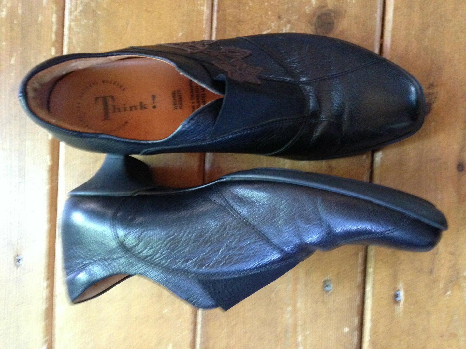 Zapatos Zapatos Zapatos De Cuero creo que 40 US 9-9.5 Para Mujer Negro  envío gratuito a nivel mundial
