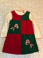 9331173ea397c Girl Rare Editions 2 Piece Red Candy Cane Corduroy Christmas Dress Jumper  Size 6