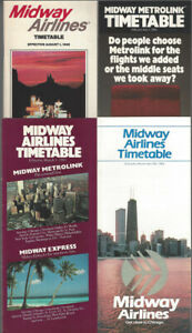 Midway-Airlines-timetable-lot-4-1983-1986