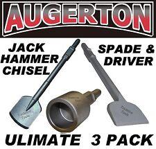 JACK HAMMER PACK -LONG CLAY SPADE - TILE CHIPPER - STAR PICKET DRIVER - AUGERTON